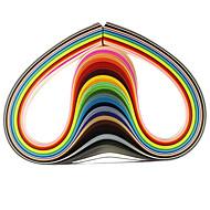 abordables Papel y Trabajo en Papel-120pcs 1cmx53cm quilling de papel (pcs x5 24 de color / color) las naves de bricolaje decoración del arte
