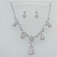 billiga -Dam Smycken Set Zircon Kubisk Zirkoniumoxid Djur Form Fjäril Dekorativa Halsband Örhängen Till Bröllop Party Bröllopsgåvor