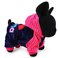Dog Hoodie Dog Clothes Casual/Daily Keep Warm Letter & Number Blue Pink Costume For Pets