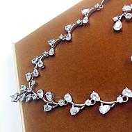 billiga -Zircon Hängande Silver Dekorativa Halsband Örhängen För Party 1set Bröllopsgåvor