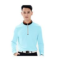 男性用-高通気性-ゴルフ ランニング-トップス(ホワイト ブルー オレンジ