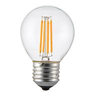 voordelige -1pcs 4w e14 b22 e26 / e27 led gloeilampen g45 4 leds cob dimbaar decoratief warm wit 300-350lm 2300-2700k ac 110v ac22v