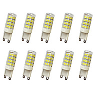 e14 g9 g4 led bi-pin lights t 51led smd 2835 400-450lm branco quente branco frio ac110 ac220v