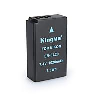 Kingma en-EL20 bmpcc batterie appareil photo numérique pour Nikon Coolpix un J1 J2 J3 s1 AW1 MH-27