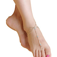 abordables -Femme Bracelet de cheville / Bracelet Cristal Gland Multicouches Européen Bracelet de cheville Bijoux Pour