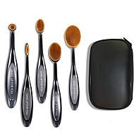 billige -5 Børstesett Syntetisk hår syntetisk Professjonell Reise Plast Lepe Ansikt Øye Make Up Til Deg