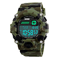 Недорогие Фирменные часы-SKMEI Муж. Спортивные часы Армейские часы Наручные часы Цифровой 30 m Защита от влаги Будильник Календарь PU Группа Цифровой Разноцветный - Камуфляж Зеленый Два года Срок службы батареи / Секундомер