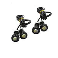 4X 9W LED Ørneøje Lys Bil Tåge DRL Dagtimerne Omvendt Backup Parkering Signal Sort 12V