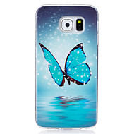 cheap Cases / Covers for Samsung-Case For Samsung Galaxy S7 edge S7 Glow in the Dark IMD Pattern Back Cover Butterfly Soft TPU for S7 edge S7 S6 edge S6 S5