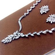abordables -Mujer Zirconia Cúbica Conjunto de joyas - Zirconio Incluir Plata Para Fiesta / Pendientes / Collare