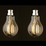 8W B22 LED-hehkulamput G60 8 ledit COB Himmennettävissä Lämmin valkoinen 800lm 2700-3500K AC 220-240 AC 110-130V