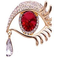 billige -kvinders rød legering brocher smykker 1pc