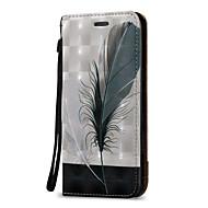 お買い得  携帯電話ケース-ケース 用途 Samsung Galaxy J7(2016年) / J5 (2016) ウォレット / カードホルダー / フリップ フルボディーケース 羽毛 ハード PUレザー のために On 5 / J7 (2016) / J7