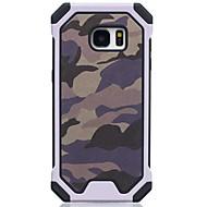 Недорогие Чехлы и кейсы для Galaxy S-Кейс для Назначение SSamsung Galaxy Защита от удара Кейс на заднюю панель Камуфляж Твердый ТПУ для S7 S6 S5 S4