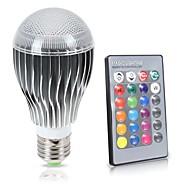 8W E26/E27 LED-bollampen A70 1 COB 850 lm RGB K Sensor Infrarood Sensor Waterbestendig Dimbaar Op afstand bedienbaar Decoratief V