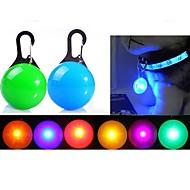 강아지 LED안전 조명 LED 조명 포함 배터리 솔리드 레드 그린 블루 핑크 투명