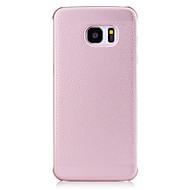 Для Матовое Кейс для Задняя крышка Кейс для Один цвет Твердый Искусственная кожа для Samsung S7 edge S7 S6 edge S6