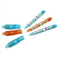 3 stücke magic 2 in 1 uv schwarz licht schreibwaren filzstift highlighter unsichtbare tinte stift