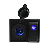 Недорогие Выключатели-DC / светодиодный индикатор питания 12v 24v зарядное гнездо с Кулисный перемычек и держатель корпуса