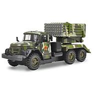 Terugtrekvoertuigen Speelgoedauto's Truck Constructievoertuig Legervoertuig Speeltjes Automatisch Vrachtwagen Metaallegering Metaal Hoge