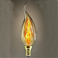 abordables Bombillas Incandescentes-1pc 40 W 360 lm E14 Luces LED en Vela / Bombillas de Filamento LED C35L Cuentas LED Regulable / Decorativa Blanco Cálido 220-240 V