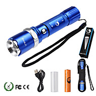 U'King LED Flashlights / Torch LED 2000 lm 5 Mode Cree XM-L T6 with Battery and Adapter Zoomable Adjustable Focus Dimmable