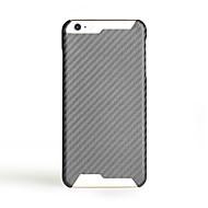 Недорогие Кейсы для iPhone-Кейс для Назначение Apple iPhone 7 Plus iPhone 7 Ультратонкий Кейс на заднюю панель Сплошной цвет Твердый Углеродное волокно для iPhone 7