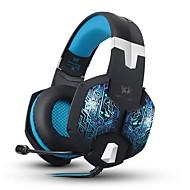 お買い得  -KOTION EACH G1000 オーバーイヤー ヘアバンド ケーブル ヘッドホン 圧電性 プラスチック 携帯電話 イヤホン ボリュームコントロール付き マイク付き ノイズアイソレーション 光る ヘッドセット