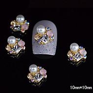 tanie Zdobienie paznokci-10szt stopu złota unikalny 3D Rhinestone paznokci diy paznokci dekoracji
