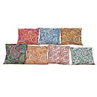 """zestaw 7 europejskich stylowych retro kwiatowych lnianych poduszek okładki biuro domowe decorativepillowcases (18 """"* 18"""")"""