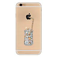 Недорогие Кейсы для iPhone 8-Кейс для Назначение Apple iPhone 8 iPhone 8 Plus iPhone 6 iPhone 7 Plus iPhone 7 Ультратонкий С узором Кейс на заднюю панель Композиция с