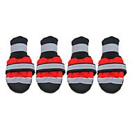 Hunde Schuhe und Stiefel Modisch Wasserdicht warm halten Winter Sommer Frühling/Herbst einfarbig Rot Gelb Nylon PU Leder