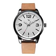 Недорогие Фирменные часы-V6 Муж. Наручные часы Японский Защита от влаги / Cool Кожа Группа На каждый день / Мода / минималист Черный / Коричневый / Два года / Maxell SR626SW
