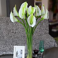 voordelige -Set of 1 PCS 1 Tak Polyester Aronskelk Bloemen voor op tafel Kunstbloemen 28