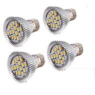 E26/E27 LED-spotlampen MR16 15 leds SMD 5630 650lm Warm wit 3000K Decoratief