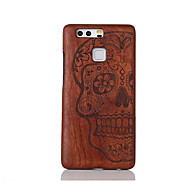 For Shockproof Embossed Pattern Case Back Cover Case Skull Hard Solid Wood for Huawei P9 Huawei P9 Lite
