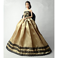 cheap Toy & Game-Party / Evening Dresses For Barbie Doll Lace / Organza Dress For Girl's Doll Toy