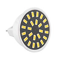 お買い得  LED スポットライト-1個 3W 400-500lm GU5.3(MR16) LEDスポットライト MR16 24 LEDビーズ SMD 5733 装飾用 温白色 クールホワイト 110-130V 220-240V