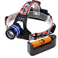 U'King Hoofdlampen Koplamp LED 1000 lm 3 Modus Cree XM-L T6 Verstelbare focus Gemakkelijk draagbaar Hoog vermogen Zoombare voor