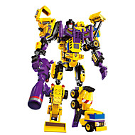 DIY KIT Building Blocks Educational Toy Robot Toys Toys Warrior Machine Robot Forklift Excavating Machinery Transformable Boys Pieces
