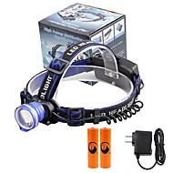 U'King Hodelykter Frontlykt LED 2000 lm 3 Modus Cree XM-L T6 Alarm Justerbart Fokus Kompaktstørrelse Enkel å bære Ekstra Kraftig