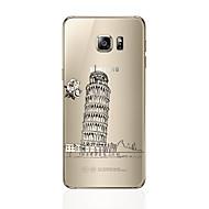 halpa Samsung kotelot / kuoret-Etui Käyttötarkoitus Samsung Galaxy S7 edge S7 Läpinäkyvä Kuvio Takakuori city View Pehmeä TPU varten S7 edge S7 S6 edge plus S6 edge