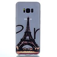 Кейс для Назначение SSamsung Galaxy S8 Plus S8 Сияние в темноте С узором Задняя крышка Эйфелева башня Мягкий TPU для S8 S8 Plus S7 edge