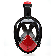 お買い得  ウォータースポーツ-シュノーケルマスク ダイビングマスク 曇り止め 液漏れ防止 180度 フルフェイスマスク - 子供用 成人 潜水 ネオプレン