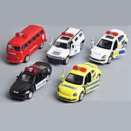 Vehicle speelsets Speelgoedauto's Politieauto Speeltjes Automatisch Metaallegering Metaal Klassiek & Tijdloos Chic & Modern 1 Stuks