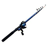 abordables Cañas de Pescar-Caña de pescar Caña telescópica de giro Plástico Reforzado Con Fibra Pesca en General Cañas + Carrete de la pesca