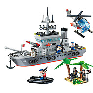 cheap Toys & Hobbies-ENLIGHTEN 820 Building Blocks Toys Model Building Kit Toys Warship Ship Military DIY Plastic Boys' 614 Pieces
