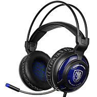 Sades sa-805 3,5-mm-Gaming-Headsets mit Mikrofon Geräuschunterdrückung Musik Kopfhörer schwarz-blau für PS4 Laptop-PC-Handys