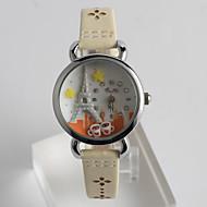 abordables Relojes de Niño-Mujer Reloj de Pulsera Cuarzo Reloj Casual / PU Banda Analógico Casual Moda Blanco - Blanco Un año Vida de la Batería / Tianqiu 377