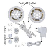 ywxlight® 2835smd 3W 36led alb cald alb rece ue dublu priză mișcare pat pat activat lumină 2x1.2m senzor flexibil temporizator pentru
